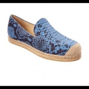NIB$325 Stuart Weitzman snakeskin loafer shoes 7M